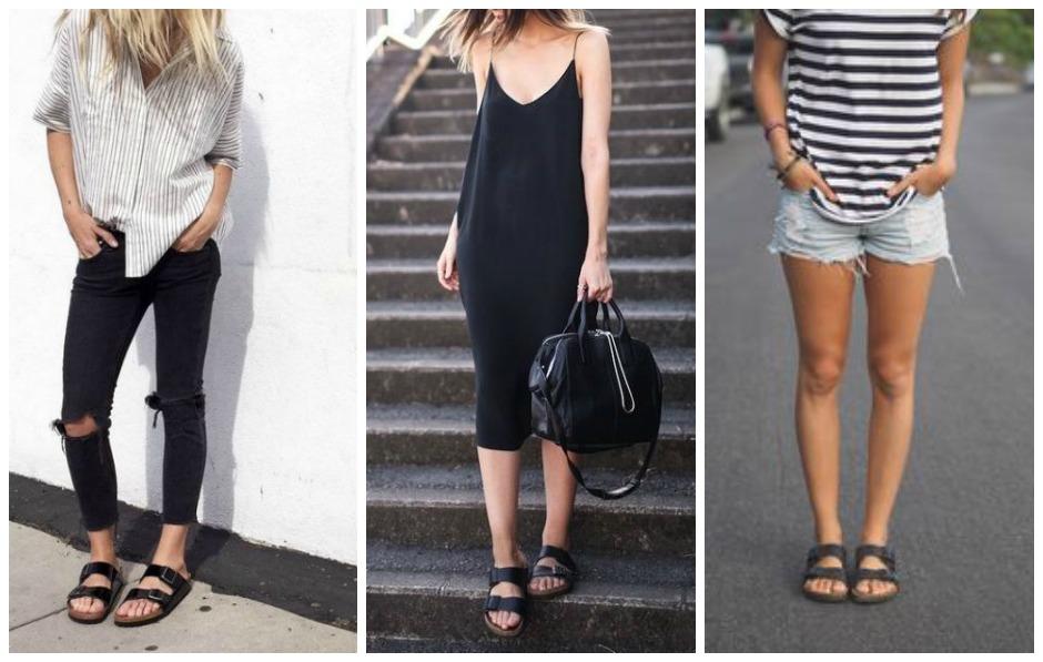 Birkenstock: alcuni outfit. Da Pinterest