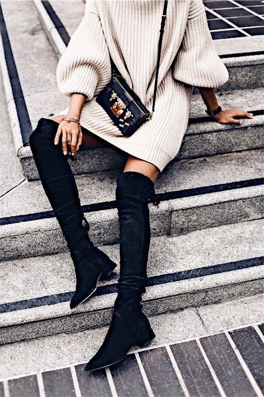 Stivale sopra il ginocchio: outfit