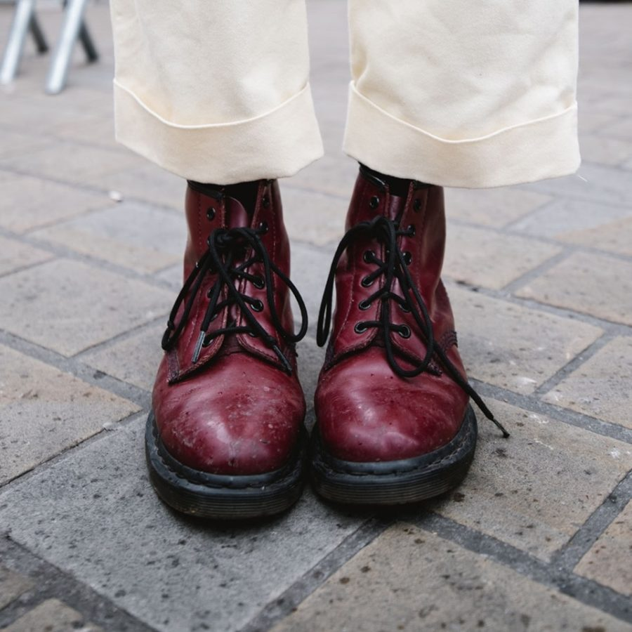 Dr.Martens Stivaletto 1460 Smooth Bordeaux