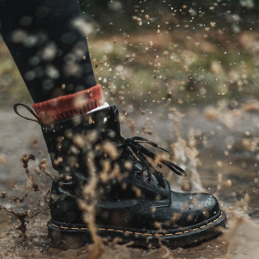 organizzare scarpe dr martens pioggia